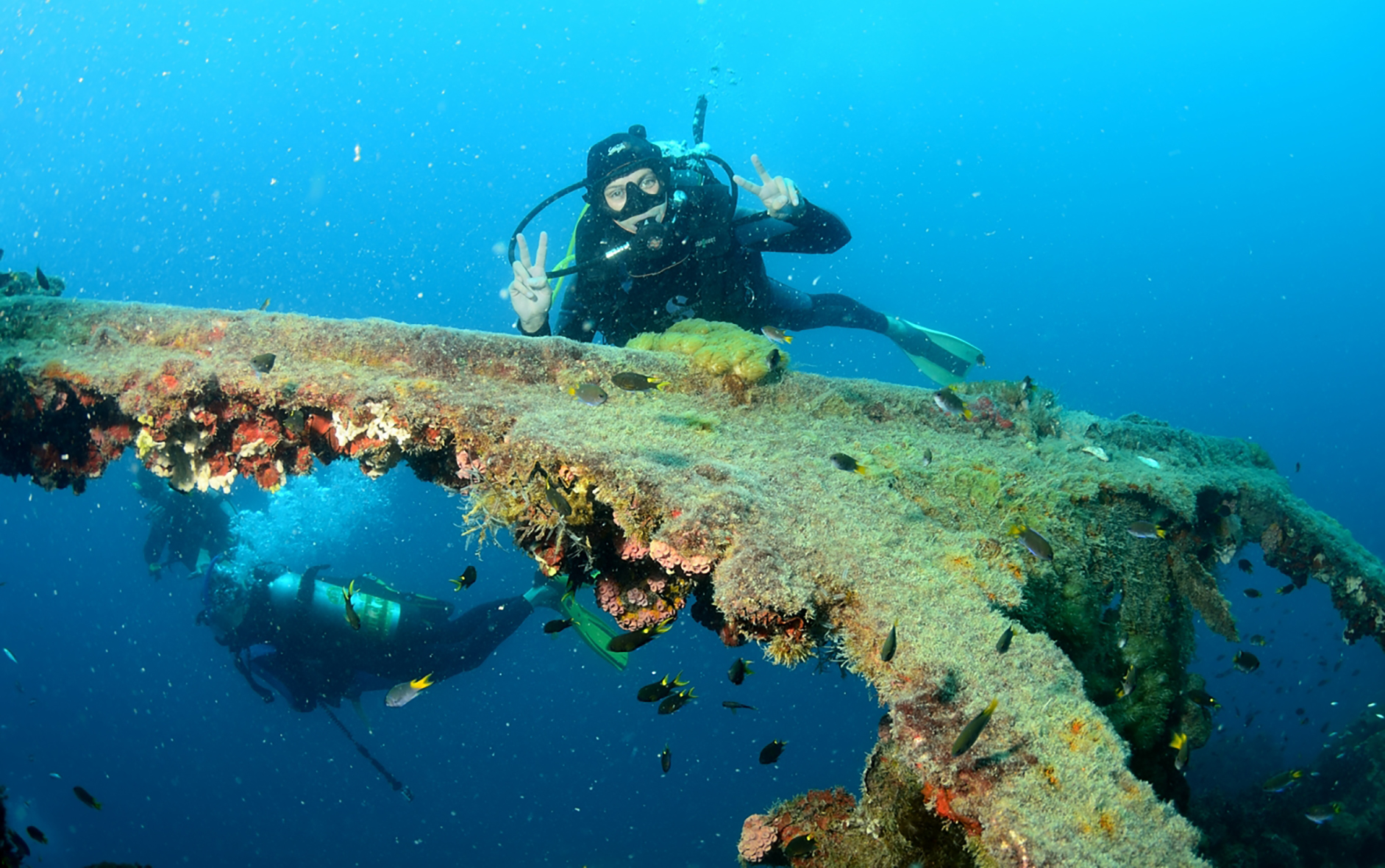 Exploring the Yongala shipwreck with Adrenalin Dive out of Townsville