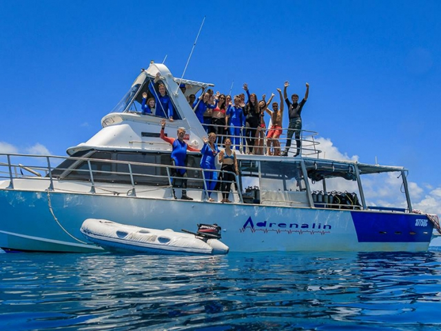 Adrenalin Dive Vessel on a day trip out of Townsville