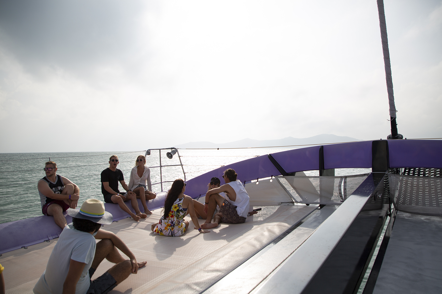 Camira is a world first with her sleek lines, spacious deck areas and breathtaking performance. Camira is one of the world's fastest commercial sailing catamarans, capable of sailing at speeds up to 30 knots.