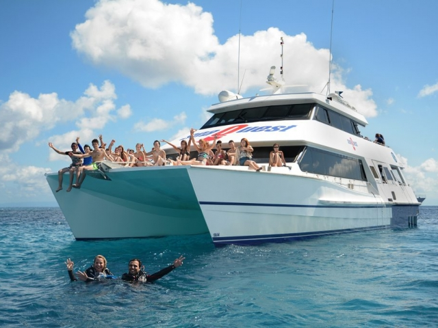 Picture SeaQuest Budget Day Trips to the Outer Great Barrier Reef Our affordable day trip option packs all the fun of our sister vessels and also accommodates those transferring to our Liveaboard OceanQuest.